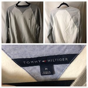 Tommy Hilfiger White Grey Sweater